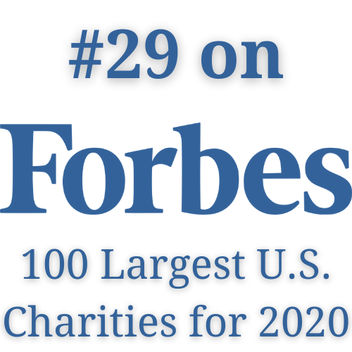#29 on Forbes 100 Largest US Charities for 2020