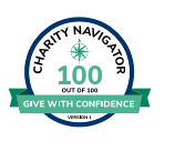 Charity Navigator 100 out of 100 bage logo