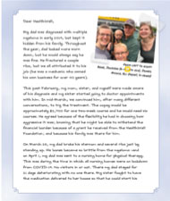 Letter from Nicole in Stillwater, MN