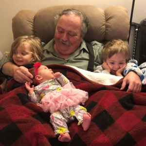James with grandchildren