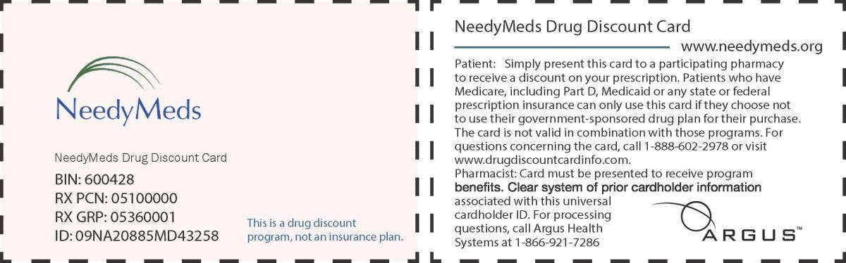 NeedyMeds Discount Card